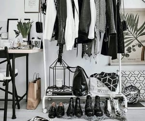 home, interior, and clothes image