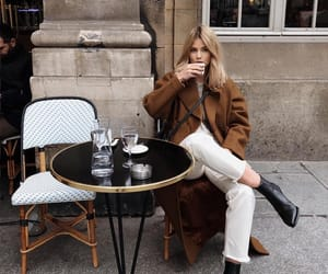 blonde, boots, and coat image