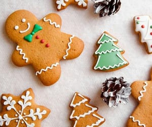biscuit, christmas, and cookie image