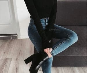 fashion, black, and jeans image