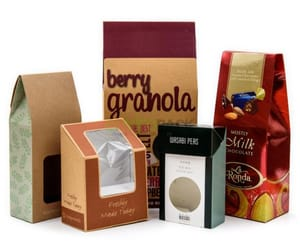 makeup packaging boxes and custom printed food boxes image