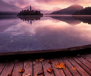purple, travel, and lake image