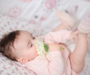 baby and flower image