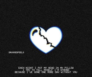 broken, broken heart, and heart image