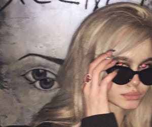 aesthetic, blonde, and blurry image