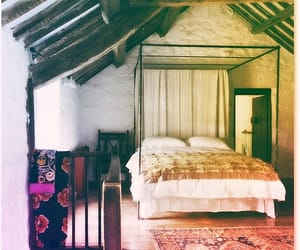 bed, bedroom, and boho image