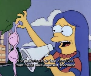 the simpsons, simpsons, and feminism image
