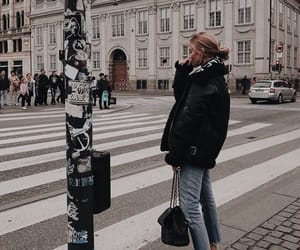city, girl, and jeans image