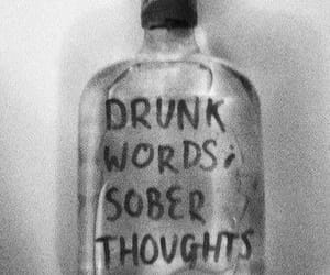 drunk, thoughts, and sober image