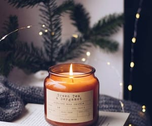 candle, light, and winter image