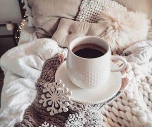 christmas, coffee, and snowflakes image
