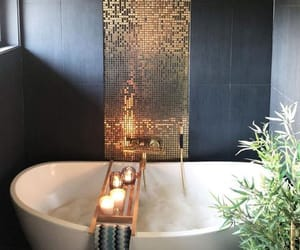 home, bath, and candles image
