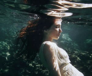 water, girl, and underwater image