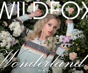 alice in wonderland, flowers, and wildfox image