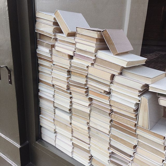 books, brown, and white image