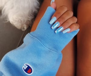 blue, champion, and nails image