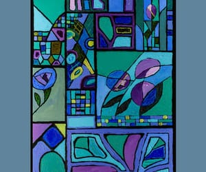 abstract, violets, and arts image