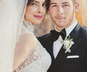nick jonas, couple, and wedding image
