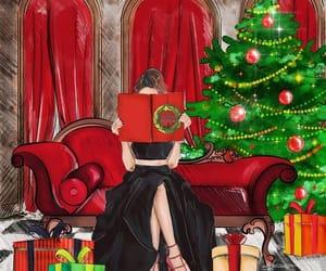 black, book, and christmas image