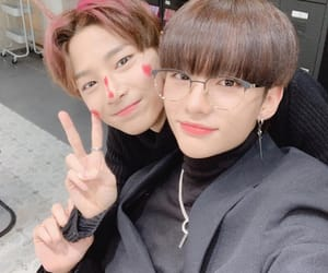 stray kids, jeongin, and hyunjin image