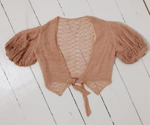 etsy, lace crop top, and embroidered blouse image