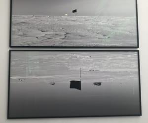 art, south pole, and black and white image