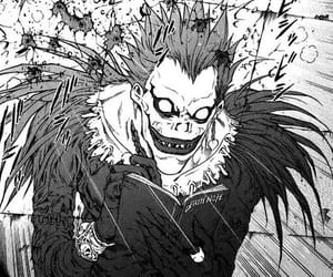 death note, ryuk, and manga image