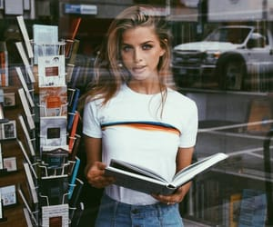 book, girl, and beauty image