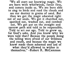 robert r mccammon, knowing magic, and whirlwinds fires comets image
