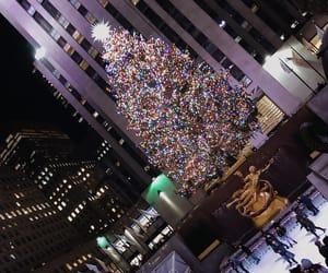 christmas, new york, and christmastree image