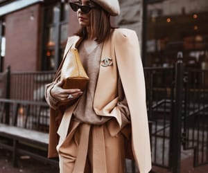 brown, chic, and clothes image
