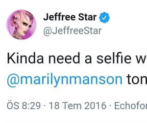 goals, jeffree star, and Marilyn Manson image
