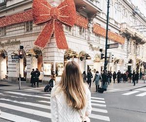 girl, christmas, and sweater image