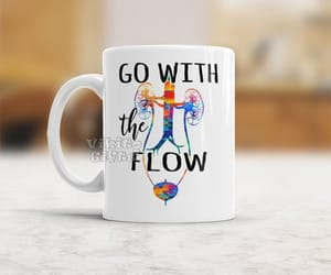 coffee mug, etsy, and go with the flow image