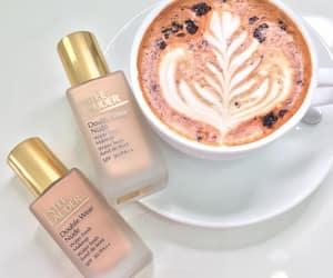 coffee, estee lauder, and latte image