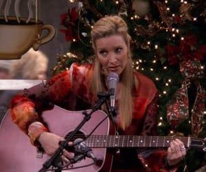 christmas tree, guitar, and music image
