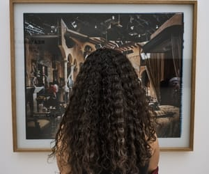 art, curls, and hair image