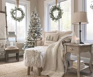 armchair, christmas, and cozy image