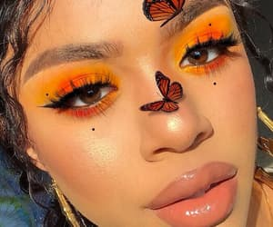 makeup, girl, and butterfly image
