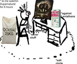 funny, salt, and supernatural image
