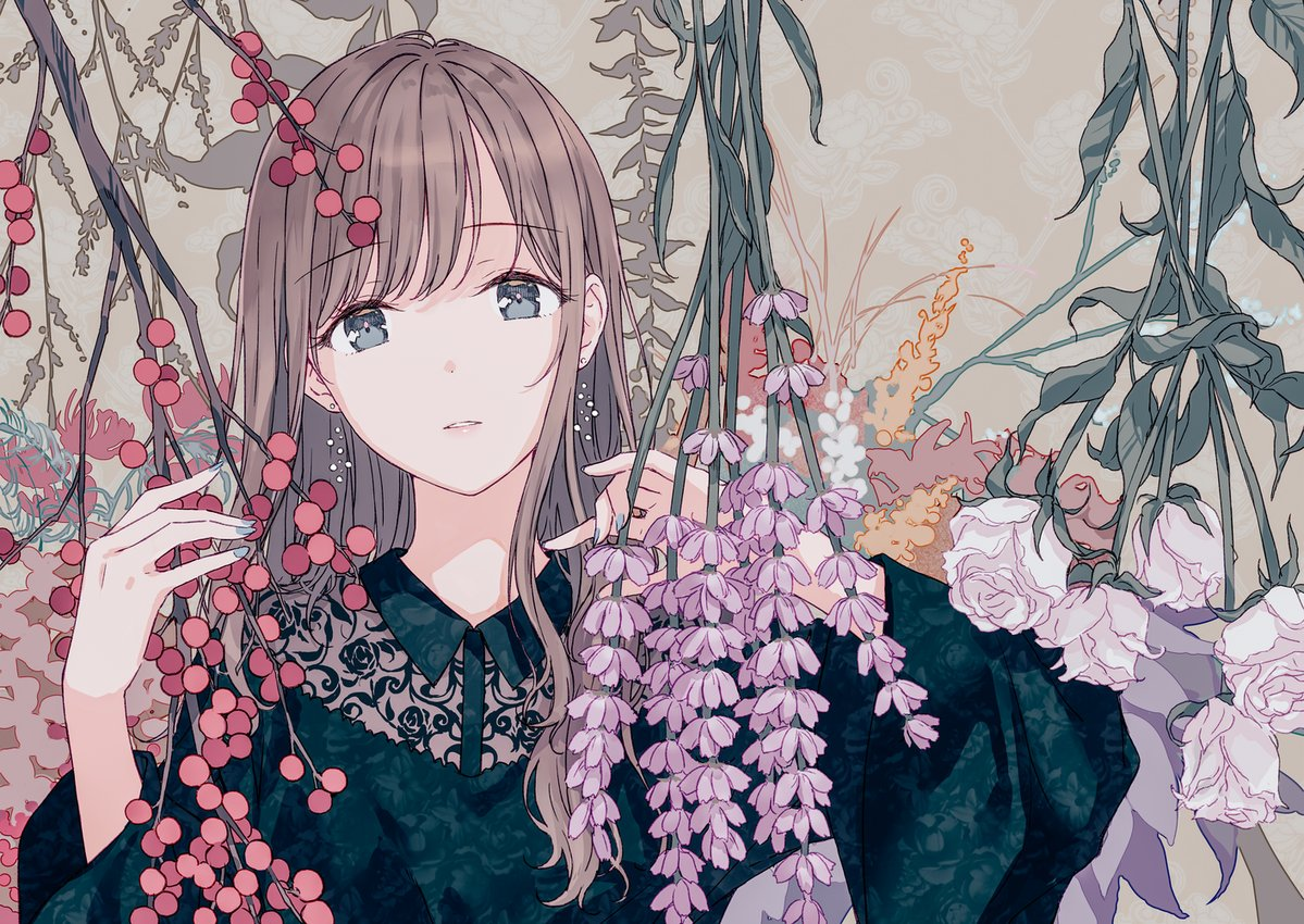 189 images about anime girl with flower on we heart it see more about anime anime girl and flowers