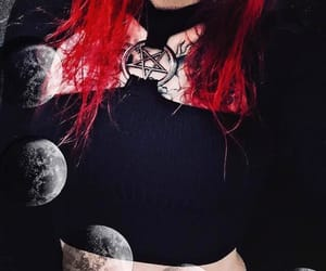 goth, tattoo, and pentagram image