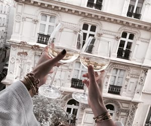 drink, champagne, and paris image