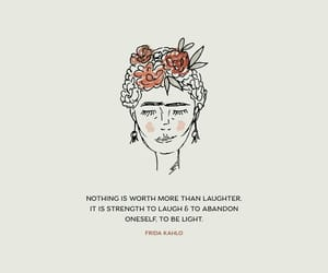 frida kahlo, happiness, and laugh image