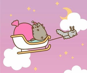 christmas, wallpaper, and pusheen image