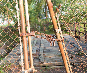 fence, old, and rust image
