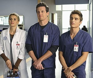 scrubs, dave franco, and eliza coupe image