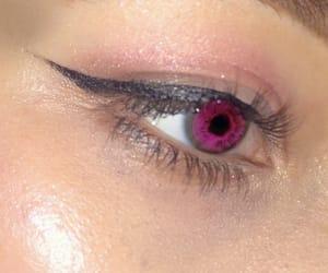 eye, pink eyeshadow, and yuno gasai image