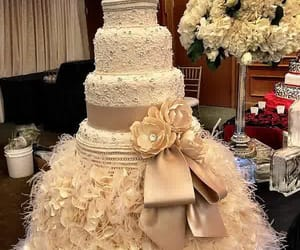 big, cake, and wedding image