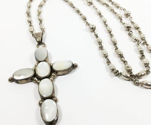 etsy, pearl cross, and vintage sterling image